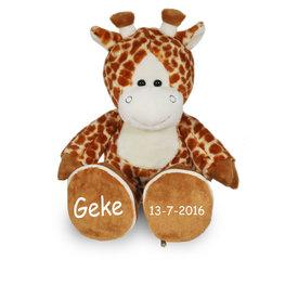 Grote Giraf voetjes met naam
