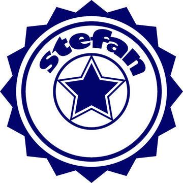 Stoer Stefan (Geboortesticker met naam)
