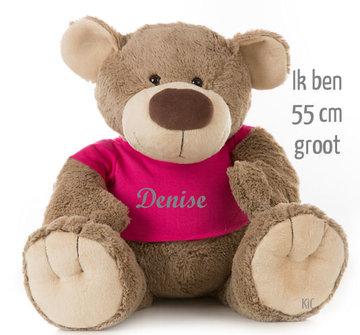 Bear Bella met naam No.4 (Groot 55 cm)