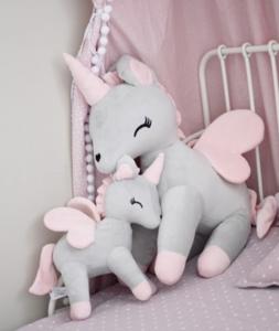 Unicorn Grijs met Rose XL