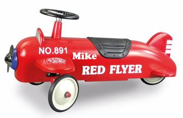 Loopvliegtuig rood flyer