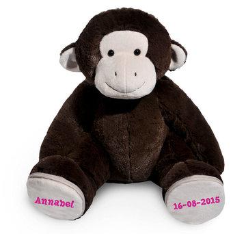 Grote aap (Bruin) voetjes met naam