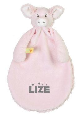 Pig Palermo roze Tutdoekje met naam
