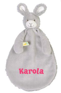 Rabbit Roma grijs Tutdoekje met naam