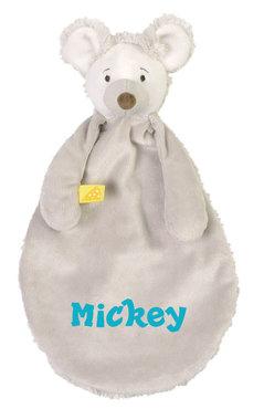 Mouse Milano grijs Tutdoekje met naam