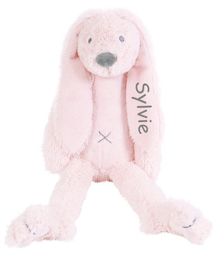 Rabbit Richie tiny roze knuffel met naam