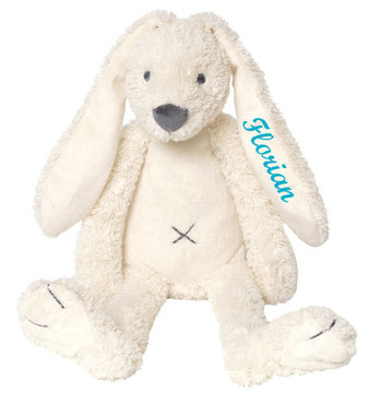 Rabbit Richie Ivory knuffel met naam (Groot)