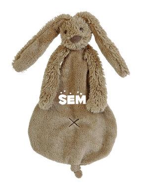 Rabbit Richie bruin tuttle met naam