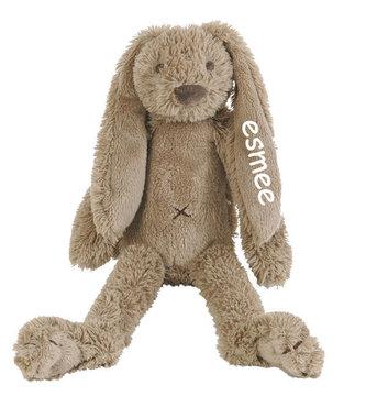 Rabbit Richie Bruin Clay knuffel met naam (Groot)