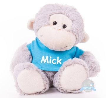 Kleine aap bedrukt met naam