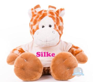 Kleine giraf bedrukt met naam
