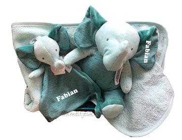 Kraammand Olifant Mint-groen