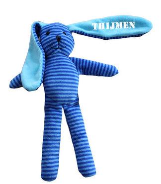 Gestreept konijn blauw