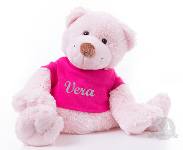 Bear Boogy Pink met naam No.2 (24 cm)