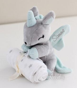 Unicorn Grijs-mint met Doek