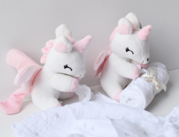 Unicorn Wit-rose met Doek
