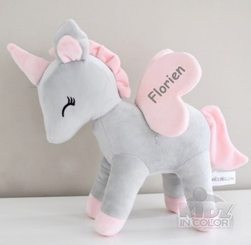 Unicorn Grijs met rose M
