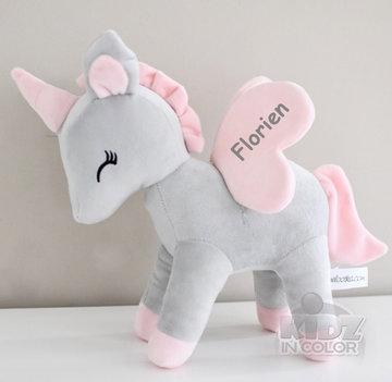 Unicorn Grijs met rose L