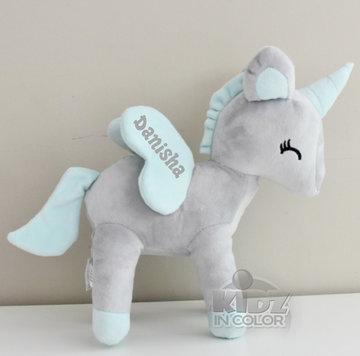 Unicorn Grijs met mint L