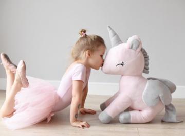 Unicorn Rose met grijs XL