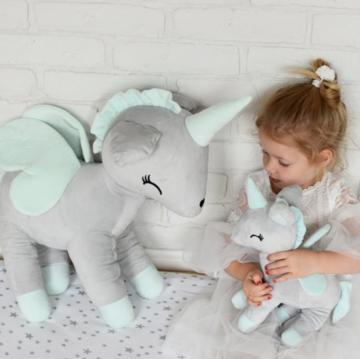 Unicorn Grijs met Mint XL