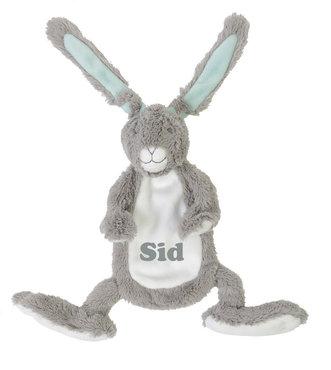 Grey Rabbit Twine Tutdoekje met naam