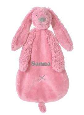 Rabbit Richie deep pink tuttle met naam
