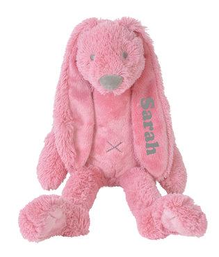 Rabbit Richie Deep pink knuffel met naam (Groot)