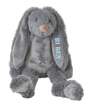 Tiny Rabbit Richie Deep Grey knuffel met naam