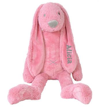MEGA Rabbit Richie Deep Pink knuffel met naam (58 cm)