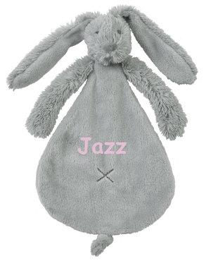 Rabbit Richie tiny grey tuttle met naam