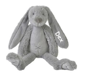Rabbit Richie grey knuffel met naam (Groot)