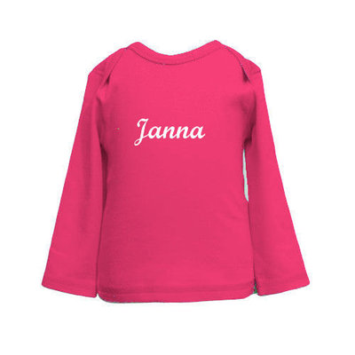 Shirtje met naam Fuchsia
