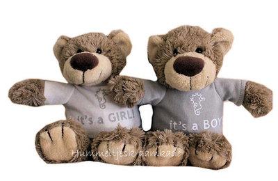 Bear Bella met naam No.1 (22 cm) It's a girl of It's a boy