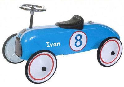 Retro racer blauw