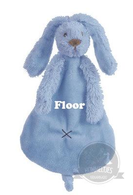 Rabbit Richie deep blue tuttle met naam