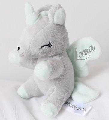 Unicorn Grijs met mint S