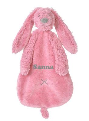 Rabbit Richie deep pink tuttle met naam