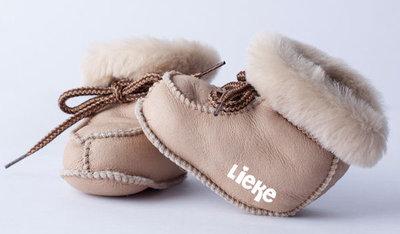 Babyslofjes Sand Nappa Leer  (Speciale editie maat 15-16-17-18)