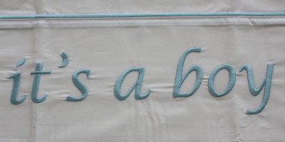 Wieglakentje It's a boy