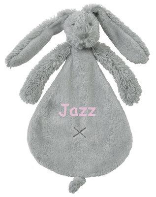 Rabbit Richie grey tuttle met naam