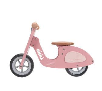 Loopscooter Little Dutch: roze (NIEUW)
