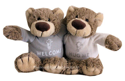 Bear Bella met naam No.1 (22 cm) Hug me of Welcome