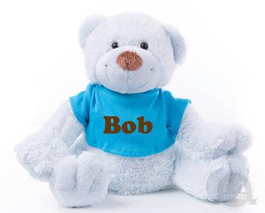 Bear Boogy Blue met naam No.2 (24 cm)