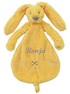 Rabbit Richie tiny yellow tuttle met naam