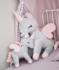 Unicorn met naam XL grijs rose